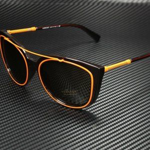 Versace Orange Brown 56mm Sunglasses! NEW!